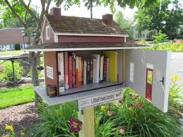 How cute is that?  Free books in your yard!