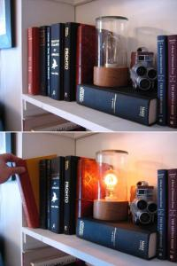 It lights up when you move the book.