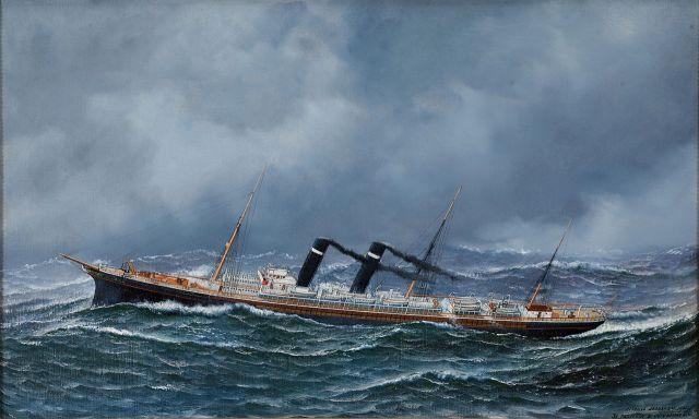 1905 boat at see