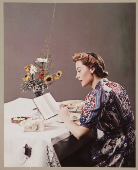 woman reading 50s